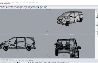 MPV汽�,商�哲�3DM格式模型