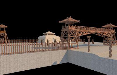 古代���v扎兵�I��哨�鼍�3D模型