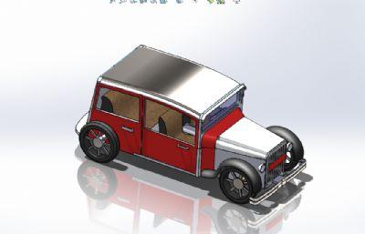 簡易老爺車Solidworks圖紙模型