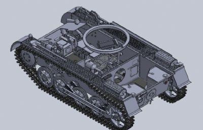 德��PZKPFW-I型坦克履�У妆PSTEP格式模型