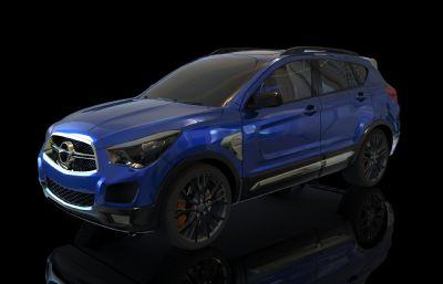 海�RS5 SUV汽�maya模型