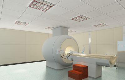 核磁共振,CT室,手術室,醫院候診室3D模型