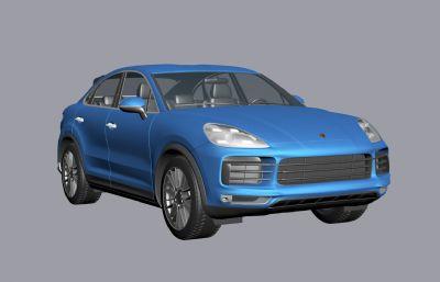 保時捷Cayenne Coupe Turbo汽車3d模型