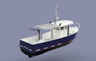 小型漁船STEP格式模型
