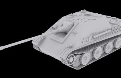 德系Jagdpanther殲擊車3D模型素模