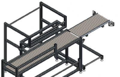 滾筒式產品輸送裝置STEP格式模型