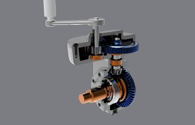 直齒輪錐齒輪傳動結構,STP,IGS格式文件