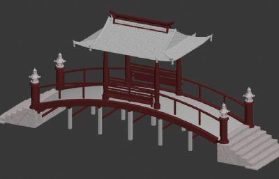 古建��,�L雨��3D模型素模