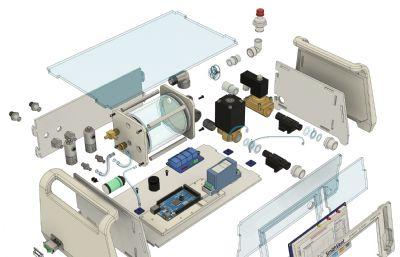 氣動呼吸機STEP格式模型