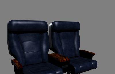 客機商務艙椅子座椅maya模型,MB,FBX兩種格式
