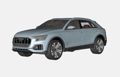 奧迪Q8汽車3D模型,C4D+FBX格式