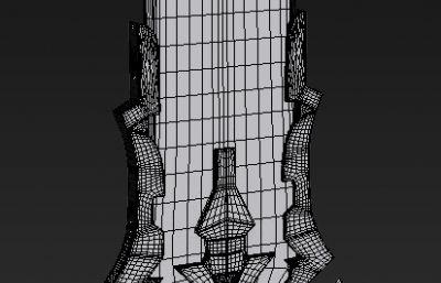 魔劍,終極武器3D模型白模