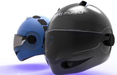 摩托車機車頭盔模型Solidworks設計