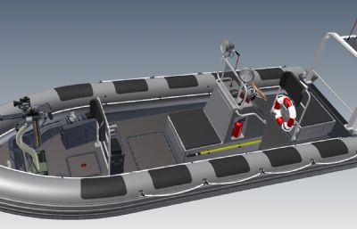 特戰船艇,部隊登陸艇STP格式圖紙模型