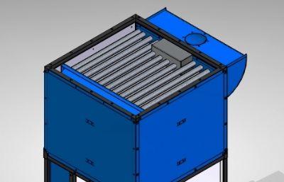 汽車噴漆室換熱器STP格式圖紙模型