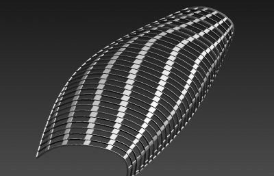 景觀構筑物,張拉膜3D模型