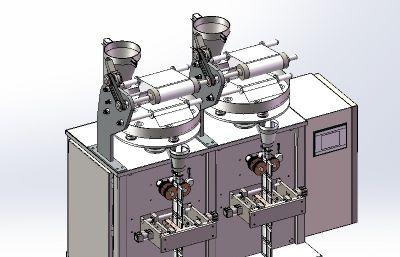 果粒灌裝機Solidworks設計圖紙,附IGS,STEP文件