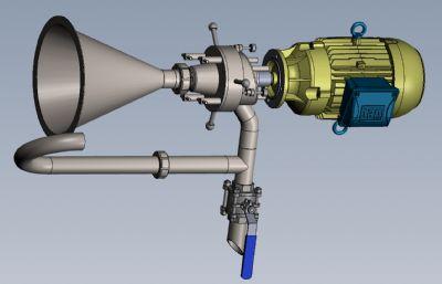 膠體磨,顆粒細化機Solidworks設計模型,附IGS文件