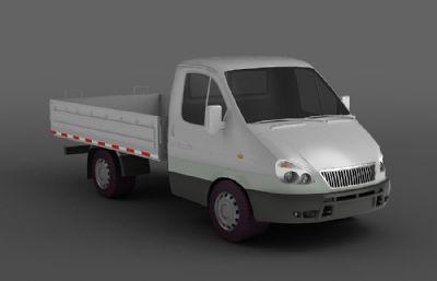 小貨車,水果攤四輪車,農用拉貨車3D模型,丟失一張輪轂的金屬貼圖