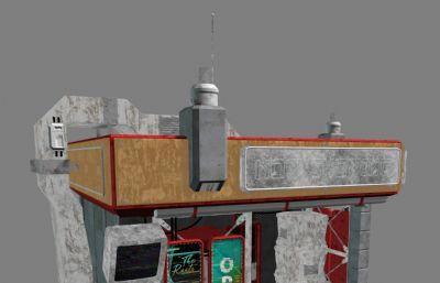 老街電影院,戲劇院maya模型,MB,FBX格式(網盤下載)