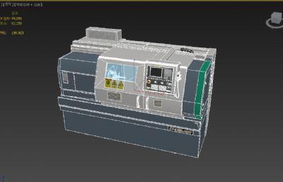 CY-K360n數控車床3D模型,可用于制作虛擬仿真和商用動畫宣傳