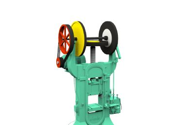 摩擦壓力機,實驗室設備3D模型,帶動畫