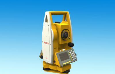 寫實全站儀,測距儀,水準儀,全站型電子測距儀3D模型