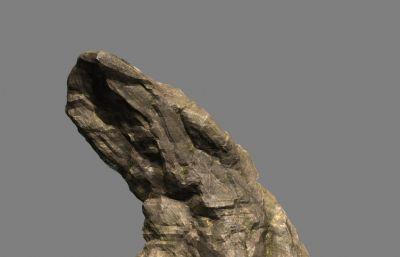 雞腿形狀的石頭,巖石maya模型,MB,FBX格式