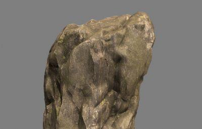 黃色石塊,巖石maya模型,MB,FBX格式
