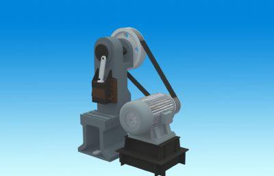 偏心軸壓力機3D模型