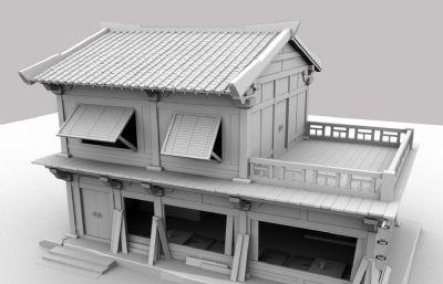 古代客棧,酒樓,餐館MAYA模型,有MA,MB,FBX,OBJ四種格式