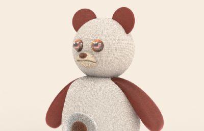 能說話熊智能陪伴小熊玩具模型,含內部結構,有ksp格式文件(圖一)