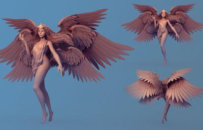 性感的審判天使精細雕刻模型,MB,ZTL,FBX三種格式(網盤下載)