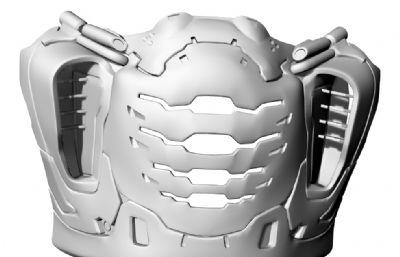 面罩STL,OBJ格式模型