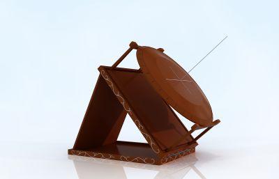 汝陰侯墓出土的天文儀器,天文儀3D模型