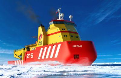 破冰船3D模型,RHINO設計圖紙