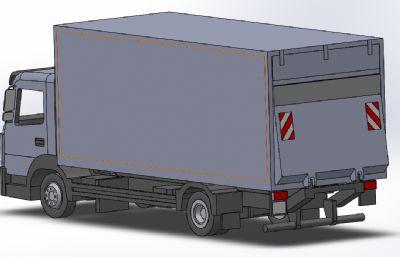 奔馳牌垃圾運輸車模型,STEP,IGS格式