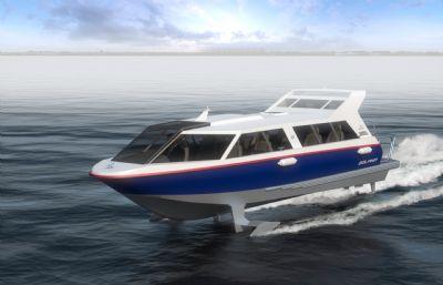 海島多人快艇,游艇模型