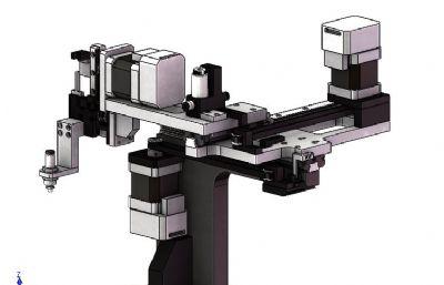 平面坐標軸拾取與放置機械圖紙模型,STEP格式