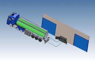 油罐車轉運站輸送汽油模型,STP格式