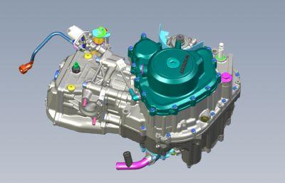 摩托車,機車發動機模型,STEP格式