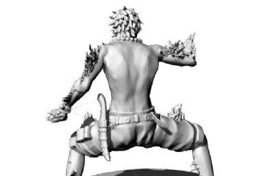 戰斗形態的海賊王艾斯OBJ格式模型