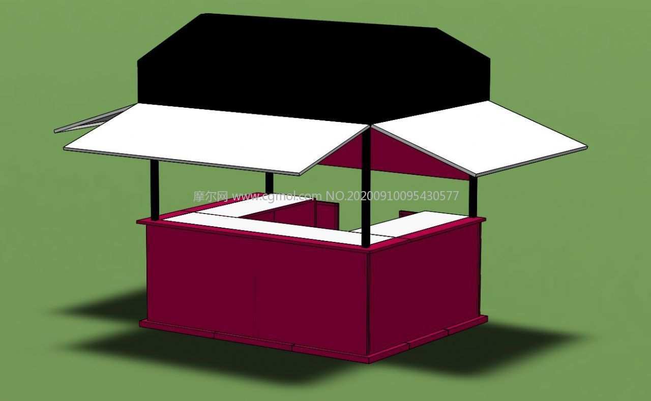 售貨亭,早點攤小屋Solidworks設計模型