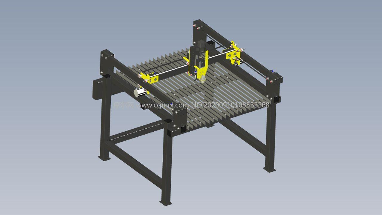 數控等離子工作臺模型,STEP,IGS格式