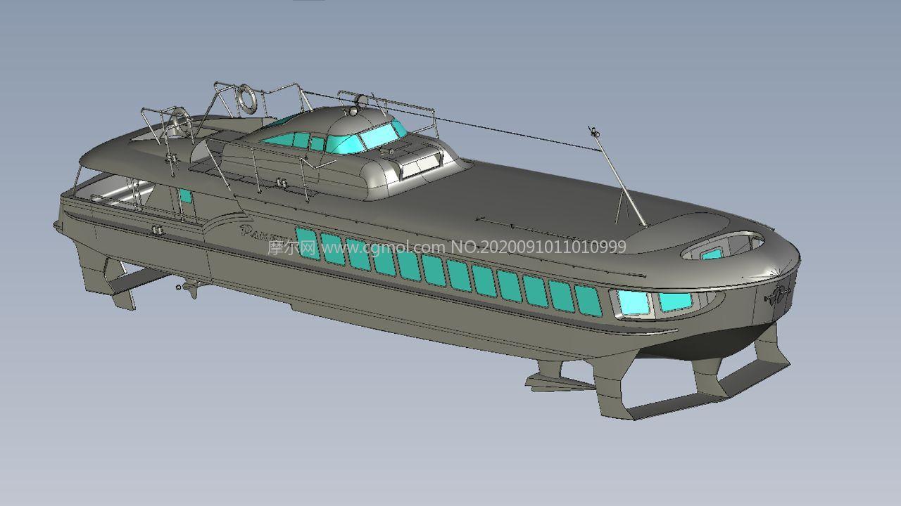 河道超高速航運船,STP格式