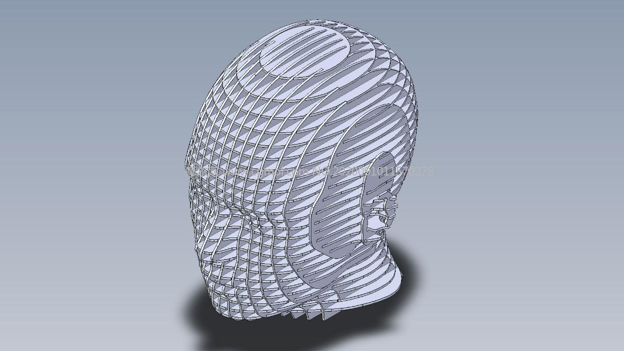 人類頭部頭型拼裝圖紙模型,IGS,OBJ,FBX,STEP等格式