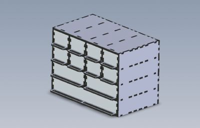 抽屜柜拼裝道具模型STEP,IGS,FBX,OBJ等格式
