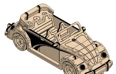 老爺車,兒童玩具車拼裝模型