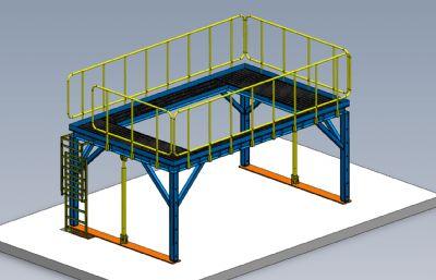 工廠加高工作平臺模型