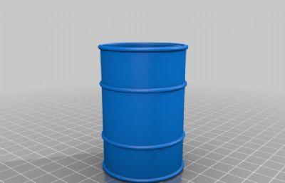 簡易的油桶STL格式模型